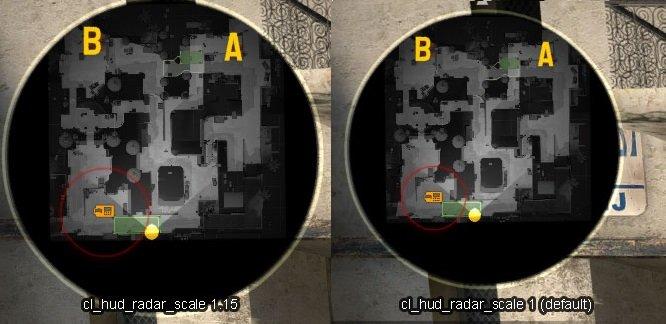 Масштаб радара (cl_hud_radar_scale)