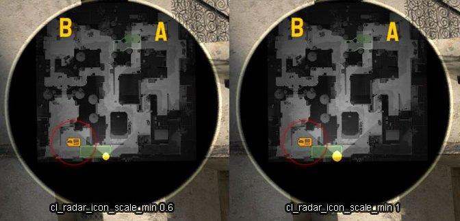 Величина значков на радаре (cl_radar_icon_scale_min)