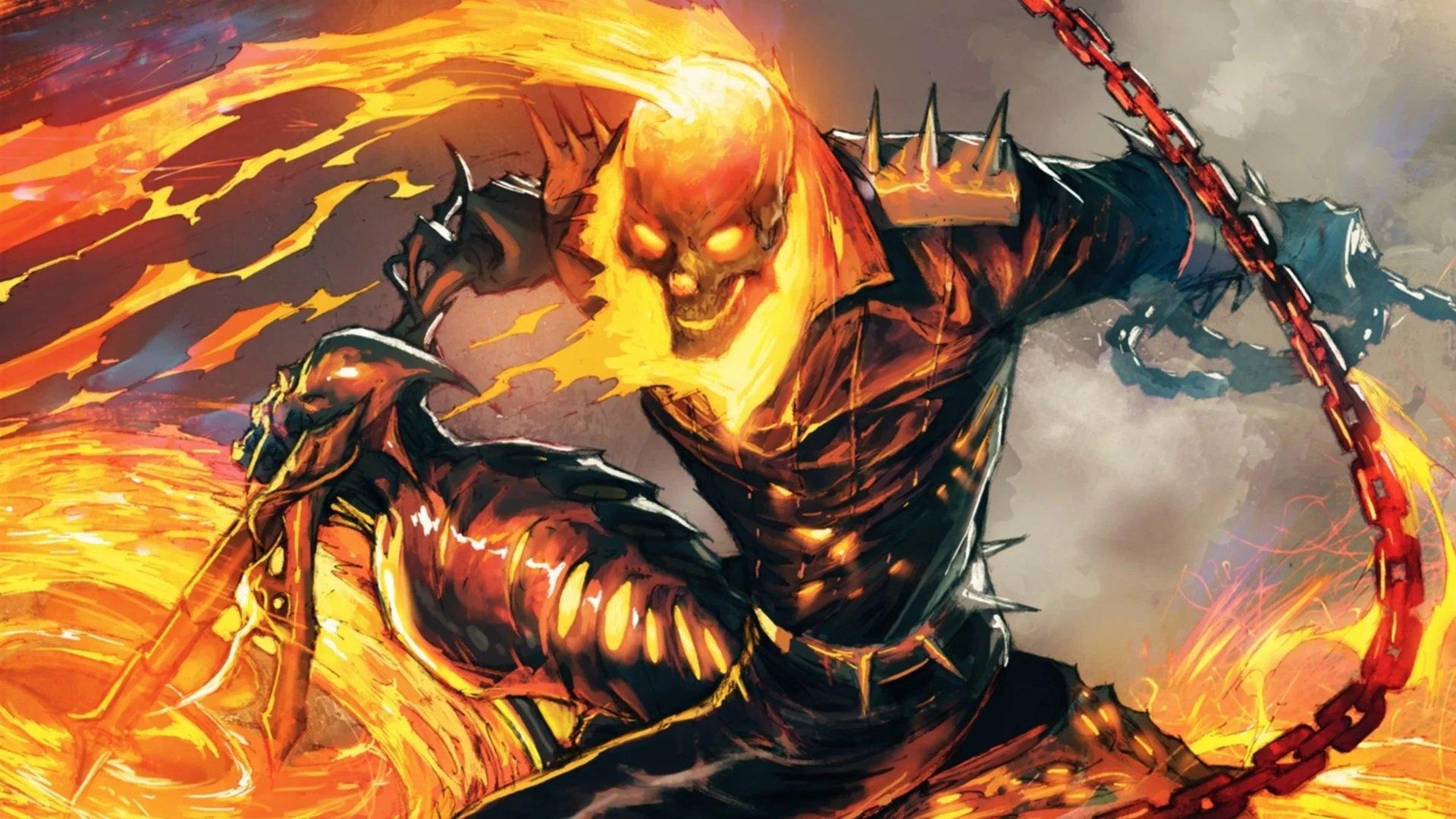 Скачать скин «Призрачный гонщик» (Ghost Rider) для CS:GO (3д модель на игрока)