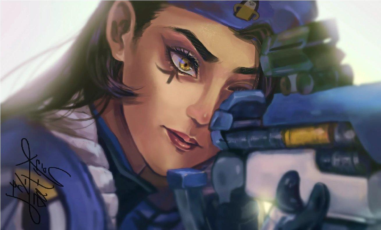 Скачать Overwatch скин А́на Ама́ри (Ana Amari) для CS:GO (Модель девушки на игрока)