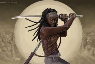Скачать скин Мишон (Michonne, Walking Dead) для CS:GO (Модель на игрока)