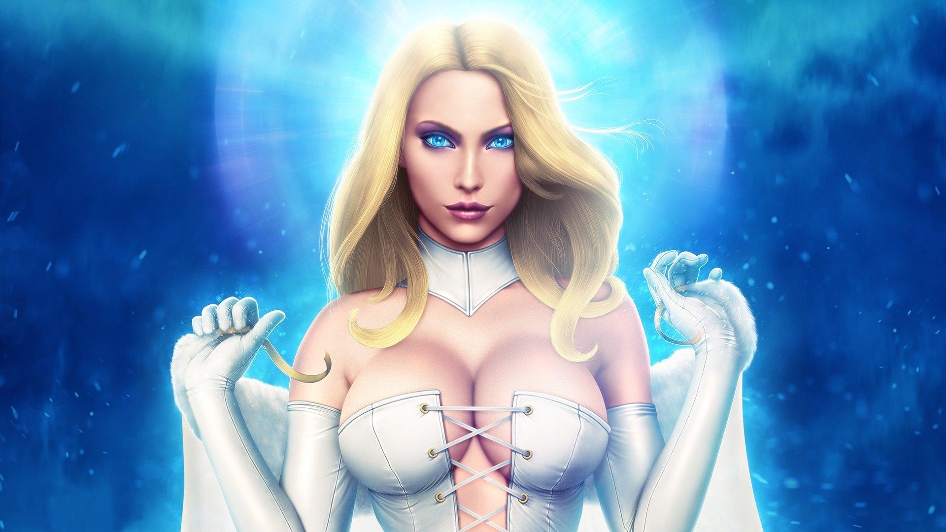 Скачать скин Эммы Фрост (Emma Frost, Marvel) для CS:GO (Модель девушки на игрока)